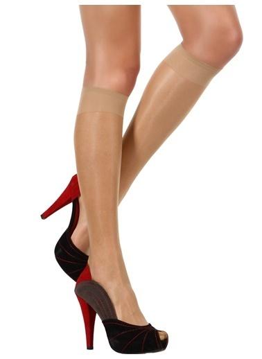 Pierre Cardin 5 Çift Likralı Mat Dizaltı Çorap Renkli